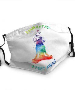 Yoga namastay 6 feet away anti-dust face mask 1