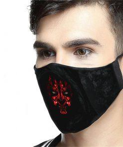 star wars darth maul anti-dust cotton face mask 2