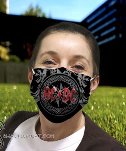 ACDC rock band anti-dust cotton face mask