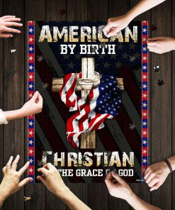 American by birth christian by the grace of God jigsaw puzzle 1