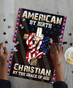 American by birth christian by the grace of God jigsaw puzzle 2