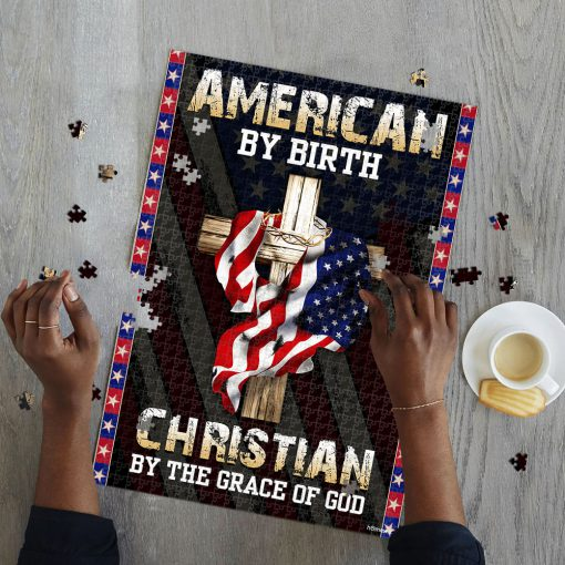 American by birth christian by the grace of God jigsaw puzzle 3