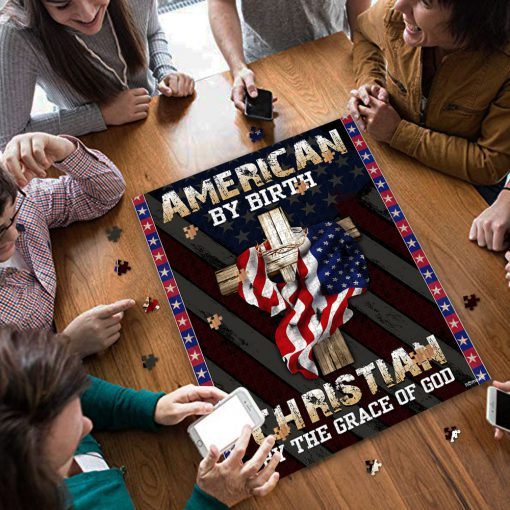 American by birth christian by the grace of God jigsaw puzzle 4