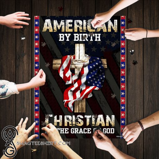 American by birth christian by the grace of God jigsaw puzzle