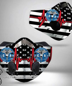 American flag certified medical assistant filter activated carbon face mask