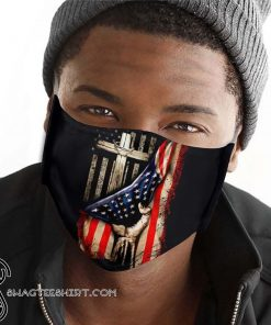 American flag in god we trust anti-dust cotton face mask