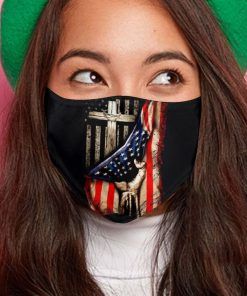 American flag in god we trust anti-dust cotton face mask 3