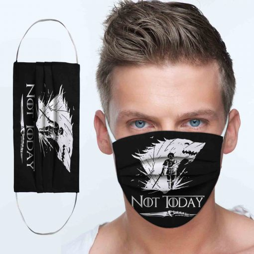 Arya stark not today game of thrones face mask 3