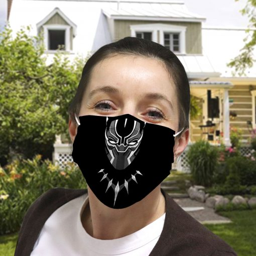 Black panther anti-dust cotton face mask 4