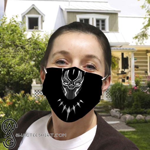 Black panther anti-dust cotton face mask