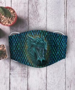 Blue dragon anti-dust cotton face mask 2