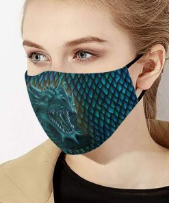Blue dragon anti-dust cotton face mask 4