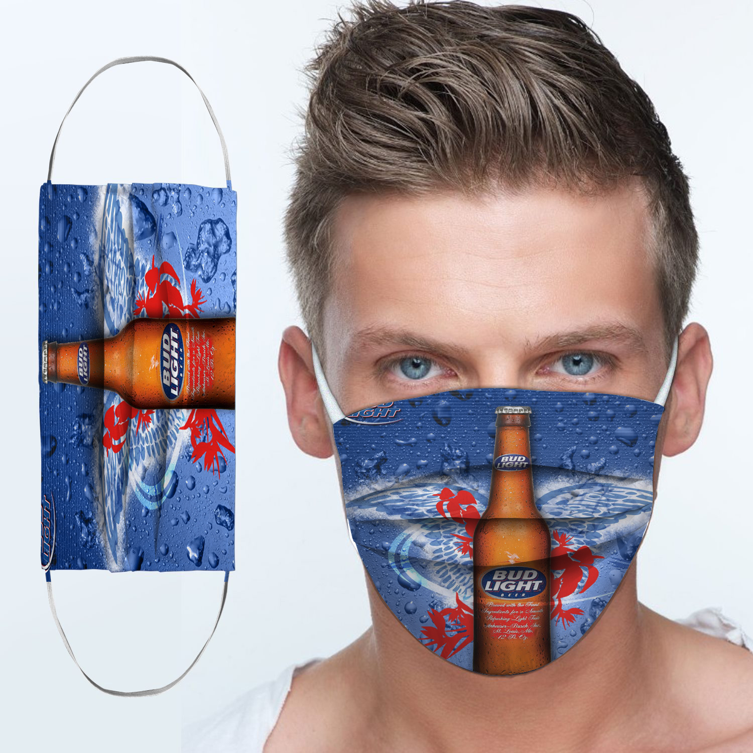 Bud light best light anti-dust cotton face mask 3
