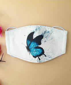 Butterfly art watercolor anti-dust cotton face mask 2