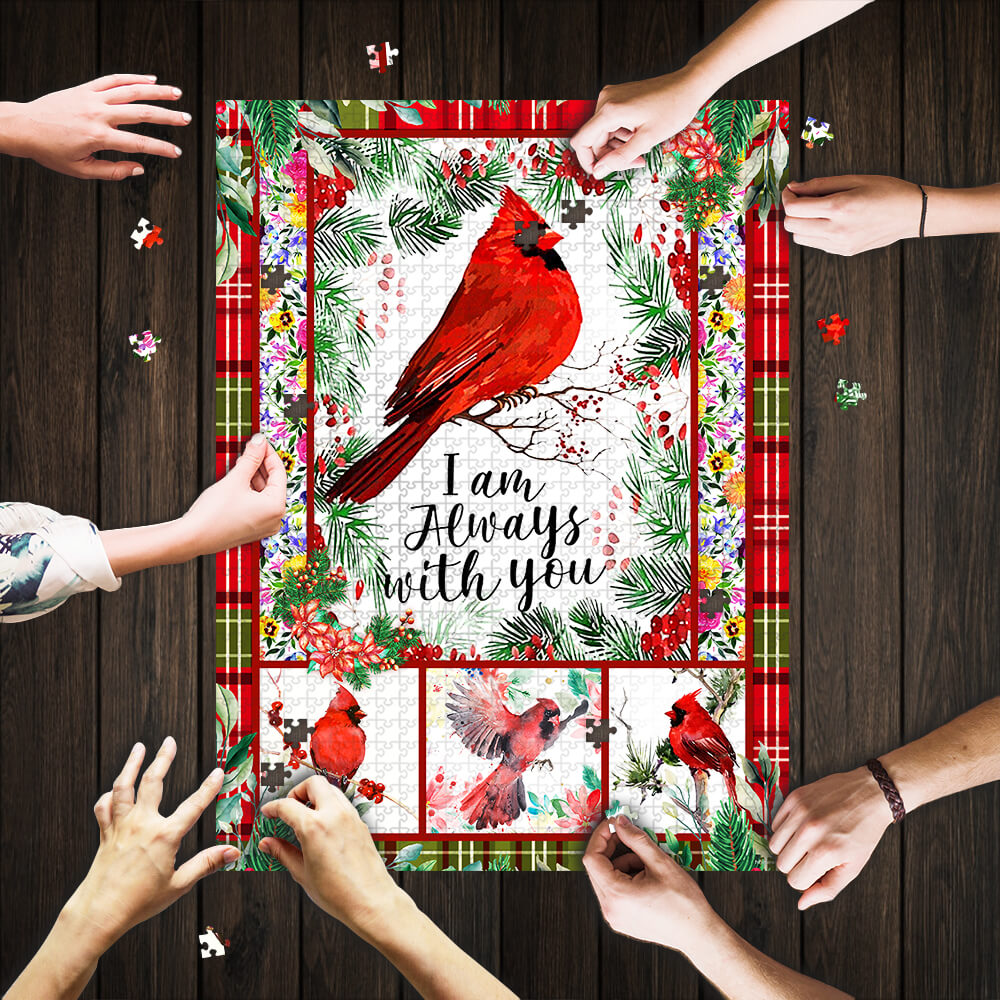 Cardinal i'm always with you jigsaw puzzle 1