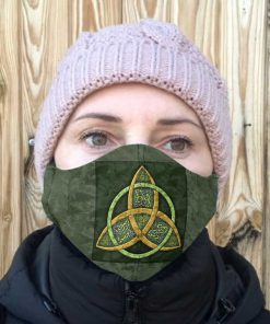 Celtic trinity knot anti-dust cotton face mask 1