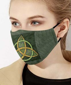 Celtic trinity knot anti-dust cotton face mask 2