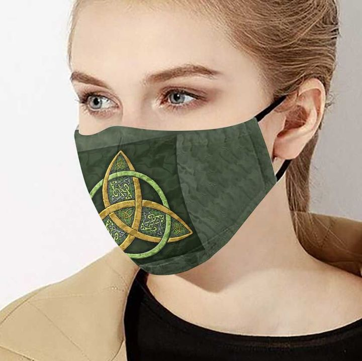 Celtic trinity knot anti-dust cotton face mask 3