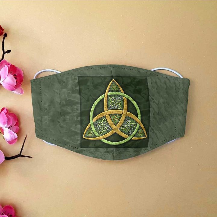 Celtic trinity knot anti-dust cotton face mask 4