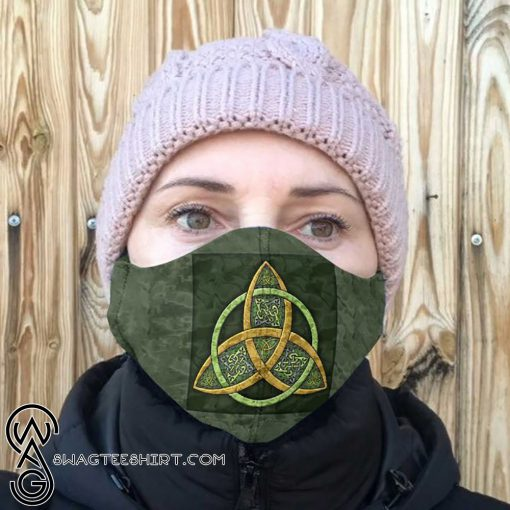 Celtic trinity knot anti-dust cotton face mask