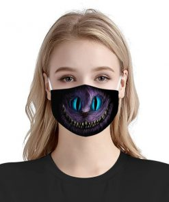 Cheshire cat face anti-dust cotton face mask 1