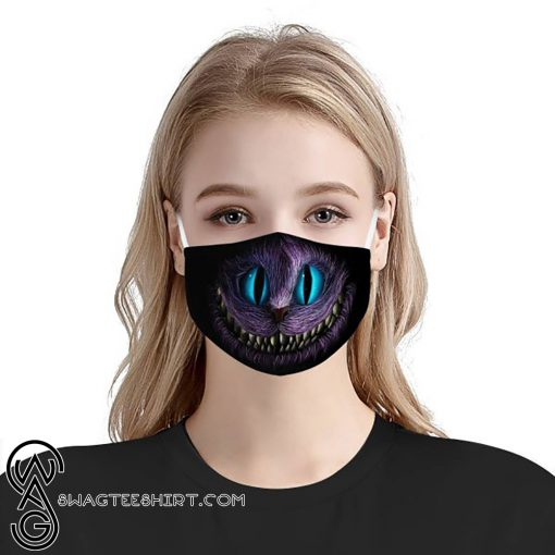 Cheshire cat face anti-dust cotton face mask