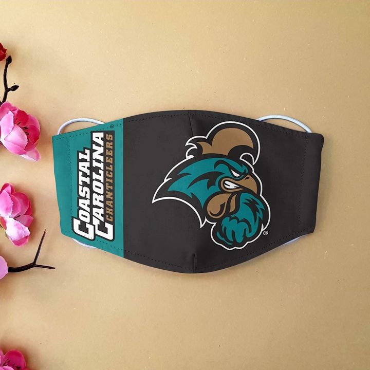 Coastal carolina chanticleers football anti-dust cotton face mask 3