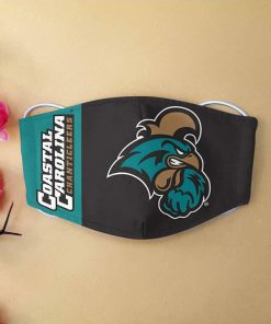 Coastal carolina chanticleers football anti-dust cotton face mask 4