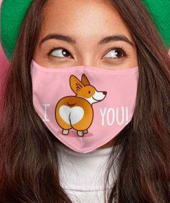Corgi i love you anti-dust cotton face mask 4