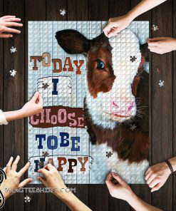 Cow heifer today i choose tobe happy jigsaw puzzle