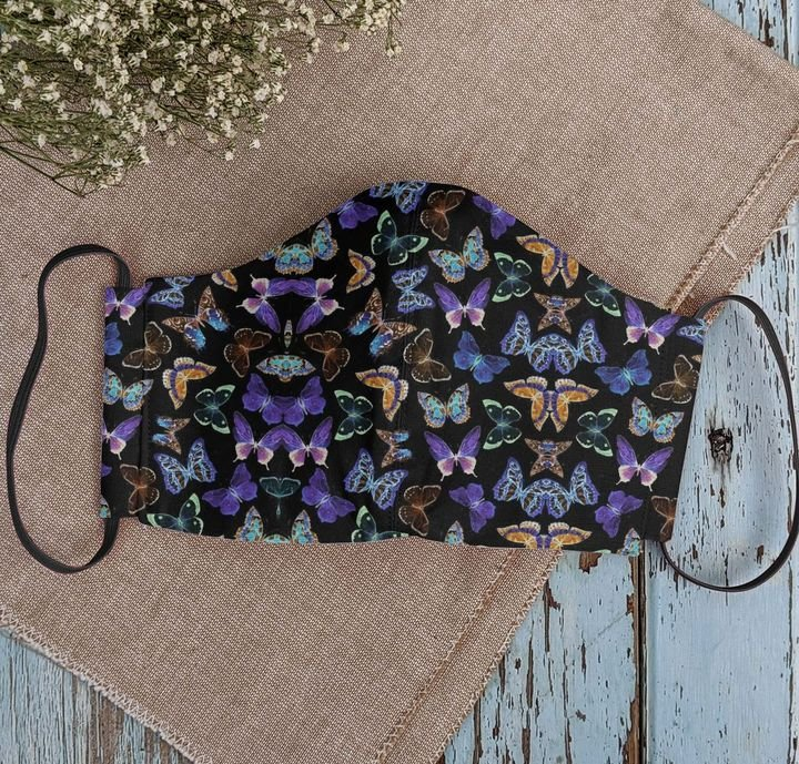 Dancing butterfly night anti-dust cotton face mask 2