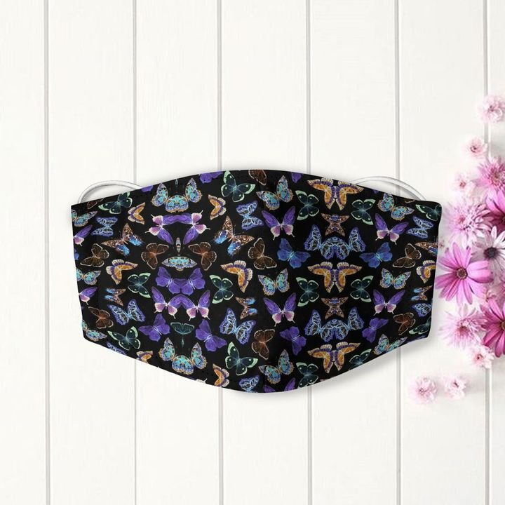 Dancing butterfly night anti-dust cotton face mask 4