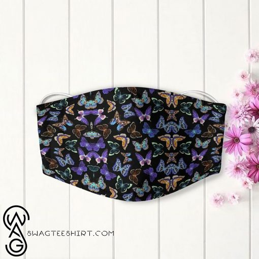 Dancing butterfly night anti-dust cotton face mask