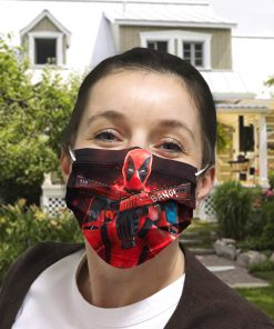 Deadpool gun anti-dust cotton face mask 3