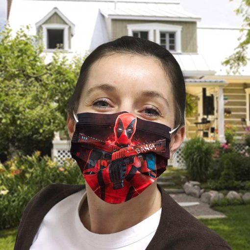 Deadpool gun anti-dust cotton face mask 4