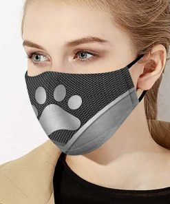 Dog lover dog paw metal anti-dust cotton face mask 2