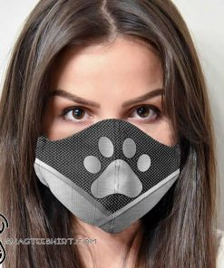 Dog lover dog paw metal anti-dust cotton face mask