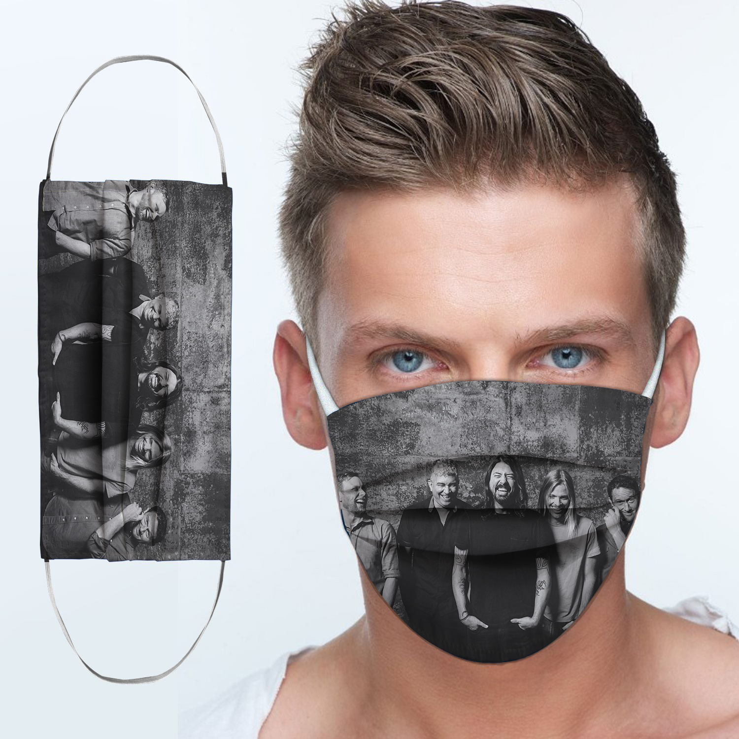 Foo fighters rock band anti-dust cotton face mask 3