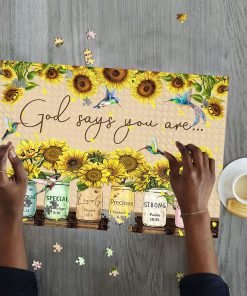 God says you are Sunflower Hummingbirds jigsaw puzzle 2