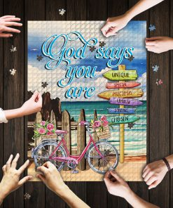God says you are unique special precious jigsaw puzzle 1