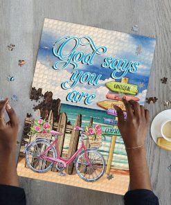 God says you are unique special precious jigsaw puzzle 3