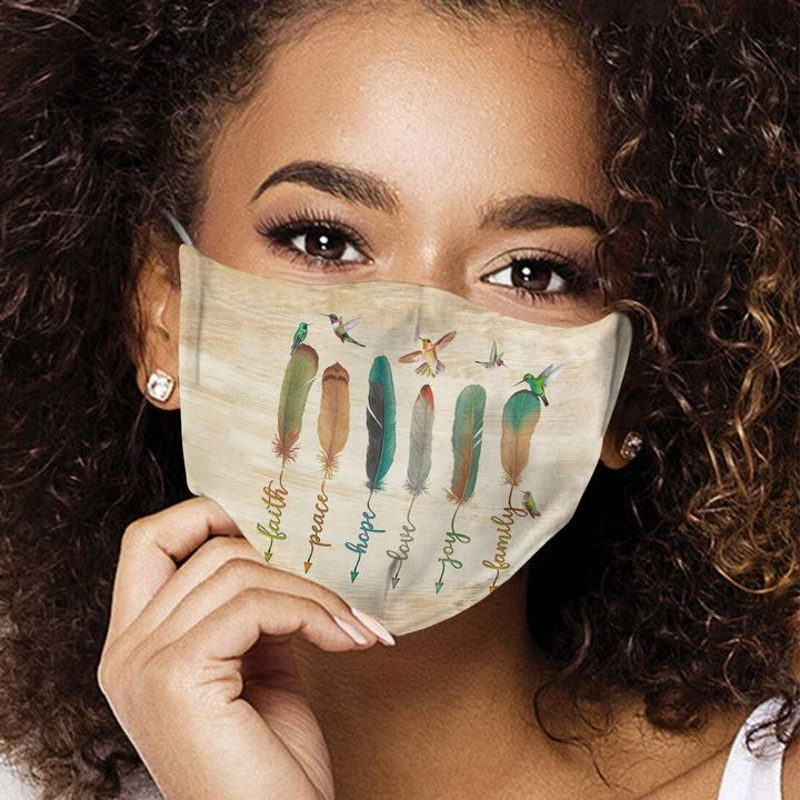 Humming bird feather anti-dust cotton face mask 3