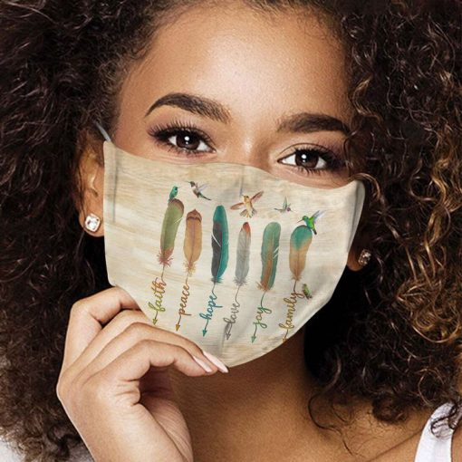 Humming bird feather anti-dust cotton face mask 4