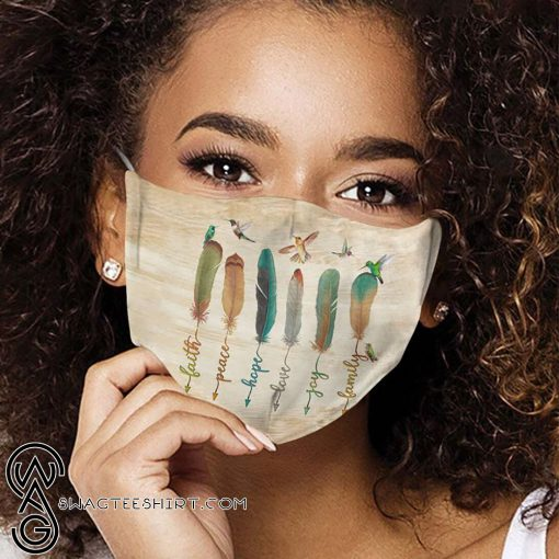 Humming bird feather anti-dust cotton face mask