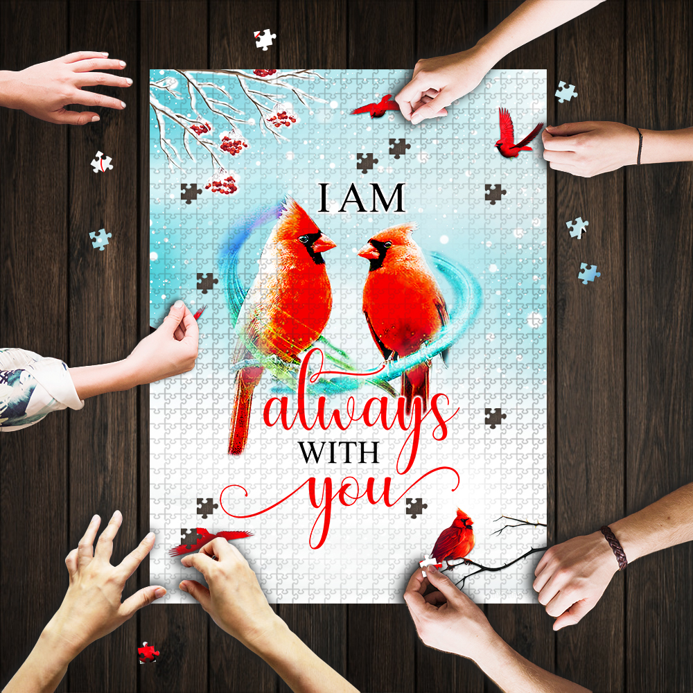 I am always with you red cardinal jigsaw puzzle 1