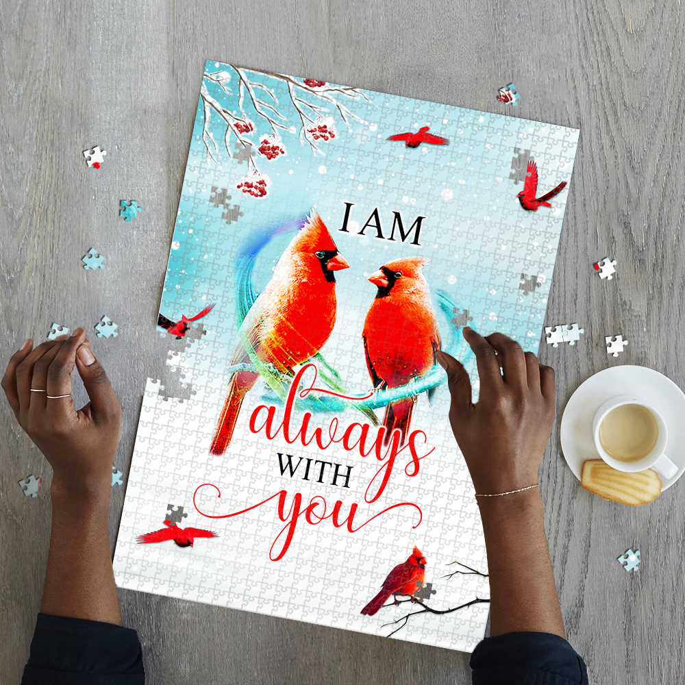I am always with you red cardinal jigsaw puzzle 2