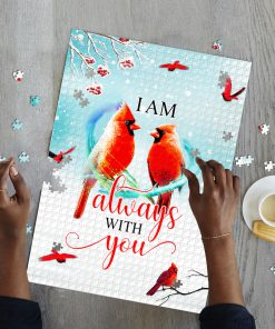 I am always with you red cardinal jigsaw puzzle 3