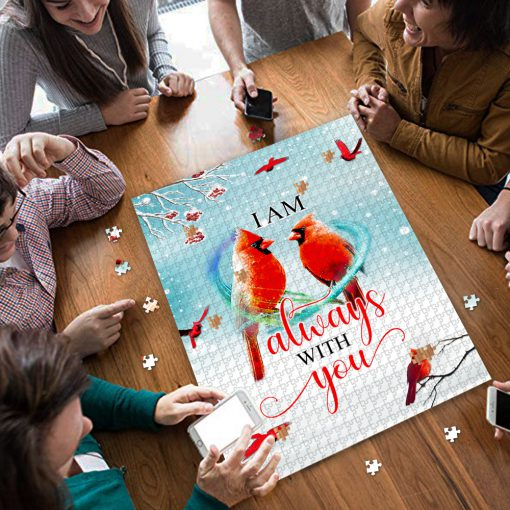 I am always with you red cardinal jigsaw puzzle 4