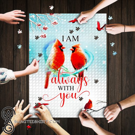 I am always with you red cardinal jigsaw puzzle
