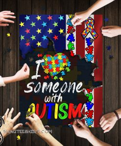 I love someone with autism awareness jigsaw puzzle